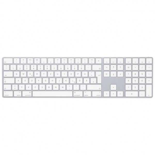 Apple Magic Keyboard mit Ziffernblock - silber
