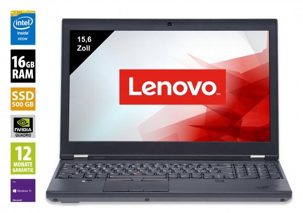Lenovo ThinkPad P51 - 15,6 Zoll - Xeon E3-1535M @ 3,1 GHz - 16GB RAM - 500GB SSD - FHD (1920x1080) - Nvidia Quadro M2200 - Webcam - Win10Pro