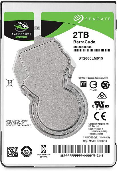 Seagate Guardian - Festplatte - 2 TB - intern - 2.5 - SATA 6Gb/s - 5400 U/min - Puffer: 128 MB