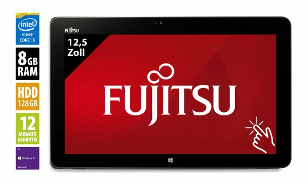 Fujitsu STYLISTIC R726 - 12,5 Zoll - Core i5-6300U @ 2,4 GHz - 8GB RAM - 128GB SSD - FHD (1920x1080) - Touch - Win10Pro