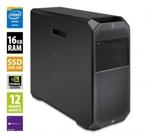 HP Workstation Z4 G4 - Xeon W-2155 CMT @ 3,3 GHz - 16GB RAM - 500GB SSD - DVD-RW - Nvidia NVS 310 - Win10Pro