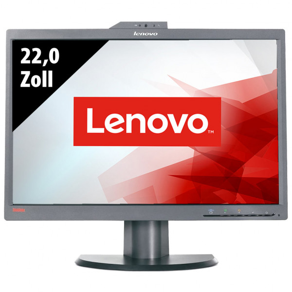 Lenovo ThinkVision L2251x Wide 2578-HB6 mit Webcam - 22,0 Zoll - WSXGA+ (1680x1050) - 5ms - schwarz