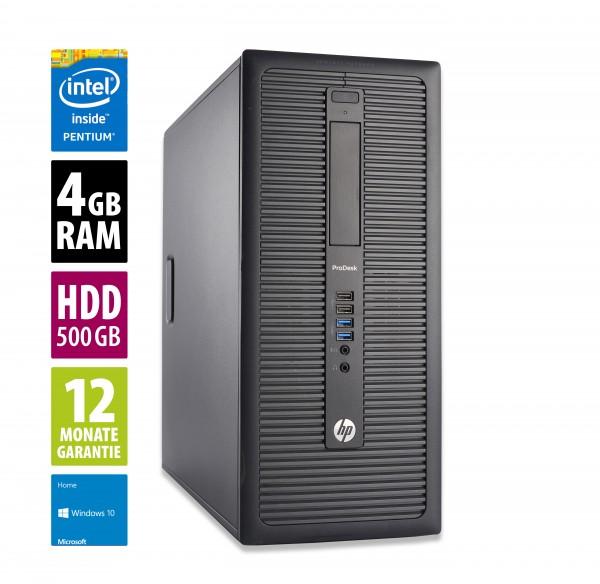 HP ProDesk 600 G1 MT - Pentium G3220 @ 3,0 GHz - 4GB RAM - 500GB HDD - Win10Home