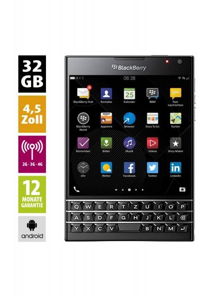 Blackberry Passport (32GB) - schwarz / B-Ware