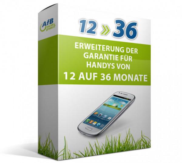Erweiterung der Garantie für Smartphones von 12 auf 36 Monate