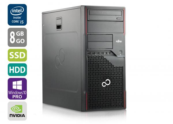 Gaming PC - Fujitsu Esprimo P900 MT - Core i5-2500 @ 3,3 GHz - 8GB RAM - 1000GB HDD - 250GB SSD - DVD-ROM - Nvidia GTX 1050 - Win10Pro