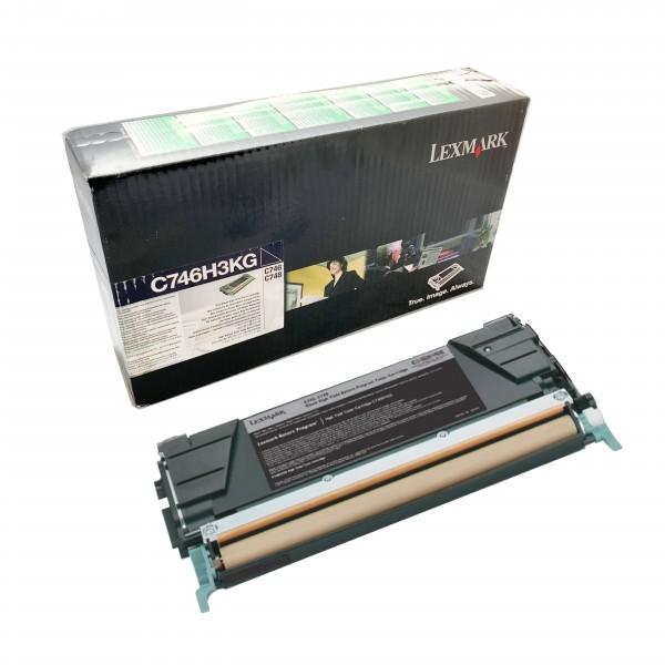 Lexmark Toner C746H3KG Schwarz - Hohe Kapazität (12.000 Seiten)
