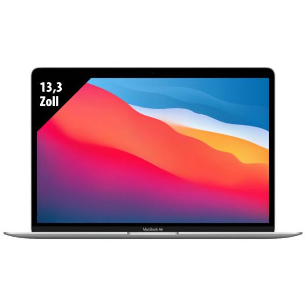 Apple MacBook Air (2020) Silver - 13,3 Zoll - M1 @ 3,2 GHz - 8GB RAM - 512GB SSD - WQXGA (2560x1600) - Webcam - macOS
