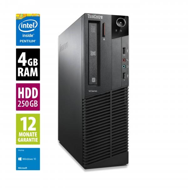Lenovo ThinkCentre M81 SFF - Pentium G630 @ 2,7 GHz - 4GB RAM - 250GB HDD - DVD-ROM - Win10Home