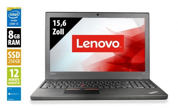 Lenovo ThinkPad T560 - 15,6 Zoll - Core i5-6300U @ 2,4 GHz - 8GB RAM - 250GB SSD - WXGA (1366x768) - Webcam - Win10Home