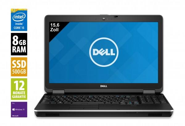 Dell Latitude E6540 - 15,6 Zoll - Core i5-4300M @ 2,6 GHz - 8GB RAM - 500GB SSHD - DVD-RW - FHD (1920x1080) - Webcam - Win10Pro
