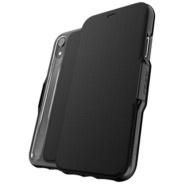 gear4 Oxford - Flip-Hülle - Handyhülle (iPhone XR) - Schwarz