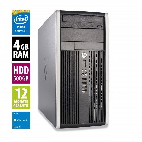 HP 6300 Pro MT - Pentium G2020 @ 2,9 GHz - 4GB RAM - 500GB HDD - DVD-ROM - Win10Home