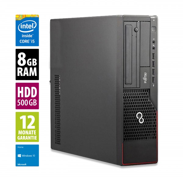 Fujitsu Esprimo E900 DT - Core i5-2400 @ 3,1 GHz - 8GB RAM - 500GB HDD - DVD-RW - Win10Home