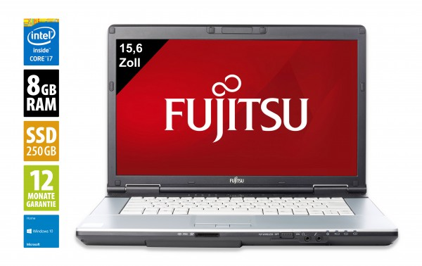 Fujitsu LifeBook S751 - 14,0 Zoll - Core i7-2640M @ 2,8 GHz - 8GB RAM - 250GB SSD - DVD-RW - WXGA (1366x768) - Webcam - Win10Home