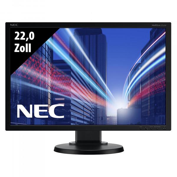 NEC MultiSync E222W-BK - 22,0 Zoll - WSXGA+ (1680x1050) - 5ms - schwarz
