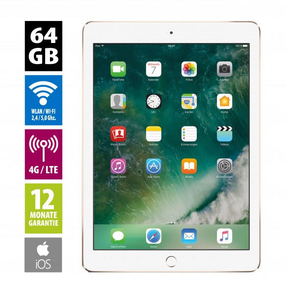 Apple iPad Air 2 Wi-Fi + Cellular (64GB) - gold - neuwertig