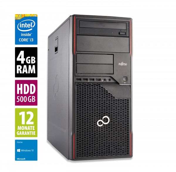 Fujitsu Celsius W420 MT - Core i3-3220 @ 3,3 GHz - 4GB RAM - 500GB HDD - DVD-ROM - Win10Home