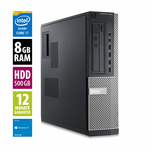Dell OptiPlex 7010 DT - Core i7-3770 @ 3,4 GHz - 8GB RAM - 500GB HDD - Win10Home