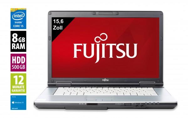 Fujitsu LifeBook E751 - 15,6 Zoll - Core i5-2520M @ 2,5 GHz - 8GB RAM - 500GB HDD - DVD-RW - WSXGA (1600x900) - Win10Home