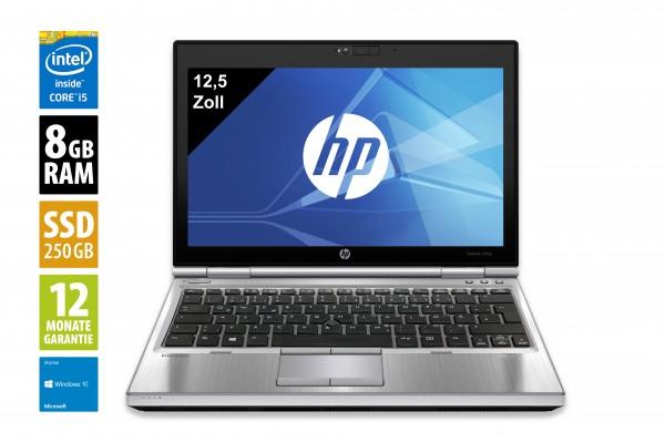 HP EliteBook 2570p - 12,5 Zoll - Core i5-3320M @ 2,6 GHz - 8GB RAM - 250GB SSD - DVD-RW - WXGA (1366x768) - Webcam - Win10Home