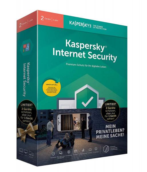 Kaspersky Internet Security 2er-Lizenz für 1 Jahr