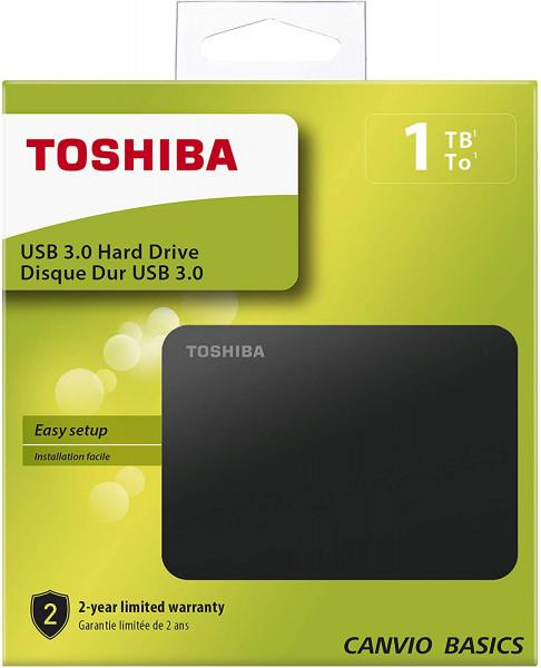 Toshiba Canvio Basics - HDD - extern - 2,5 Zoll - USB 3.0 - 1TB