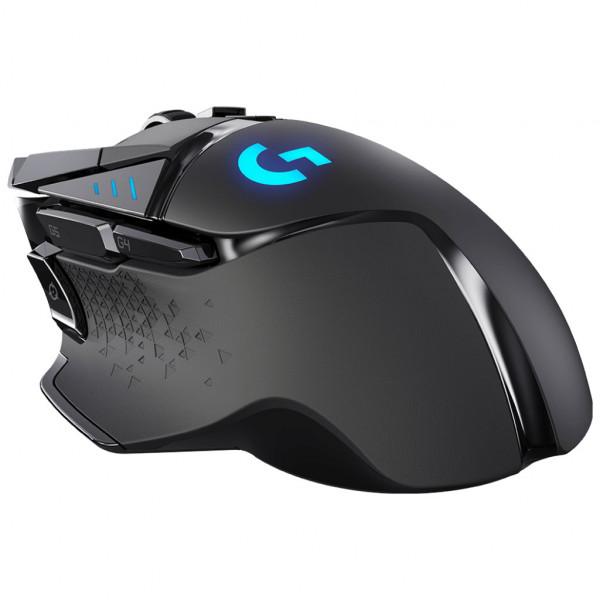 Logitech G502 LIGHTSPEED - Gaming Maus - 11 Tasten - kabellos - Schwarz