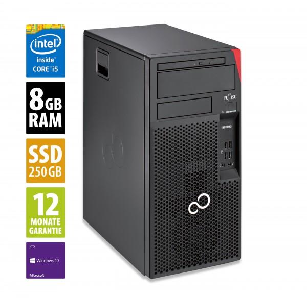 Fujitsu Esprimo P557 MT - Core i5-7400 @ 3,0 GHz - 8GB RAM - 250GB SSD - DVD-RW - Win10Pro