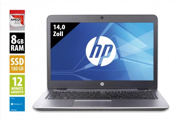 HP EliteBook 745 G3 - 14,0 Zoll - AMD Pro A10-8700B @ 1,8 GHz - 8GB RAM - 180GB SSD - FHD (1920x1080) - Webcam - Win10Home
