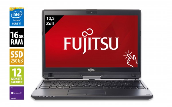 Fujitsu LifeBook T937 - 13,3 Zoll - Core i7-7600U @ 2,8 GHz - 16GB RAM - 250GB SSD - FHD (1920x1080) - Touch - Webcam - Win10Pro - Inkl. Dockingstation