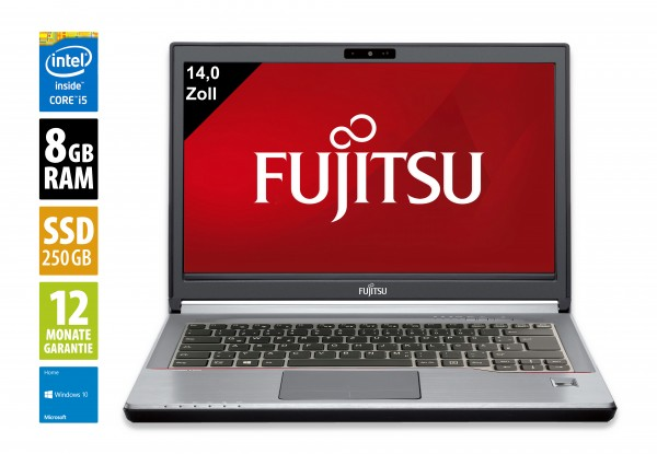 Fujitsu LifeBook E746 - 14,0 Zoll - Core i5-6300U @ 2,4 GHz - 8GB RAM - 250GB SSD - FHD (1920x1080) - Webcam - Win10Home