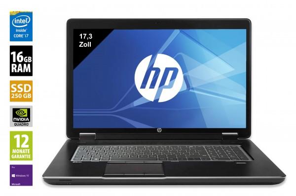 HP ZBook 17 G3 -17,3 Zoll - Core i7-6820HQ @ 2,7 GHz - 16GB RAM DDR4 - 250GB SSD - Nvidia Quadro 3000M - FHD (1920x1080) - Webcam - Win10Pro