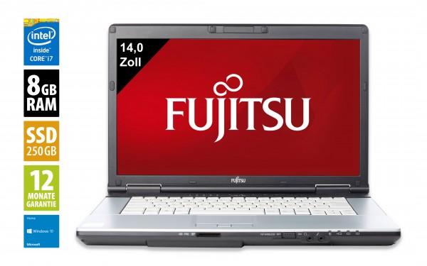 Fujitsu LifeBook S751 - 14,0 Zoll - Core i7-2640M @ 2,8 GHz - 8GB RAM - 250GB SSD - DVD-RW - WXGA (1366x768) - Webcam - Win10Home