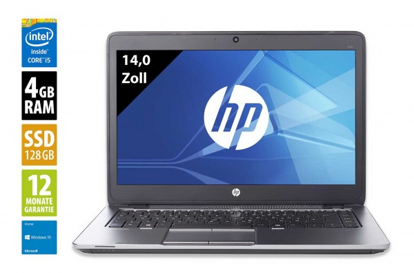 HP EliteBook 840 G3 - 14,0 Zoll - Core i5-6300U @ 2,4 GHz - 4GB RAM - 128GB SSD - FHD (1920x1080) - Webcam - Win10Home