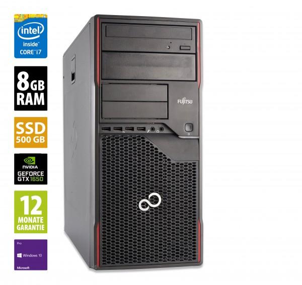Gaming PC - Fujitsu Esprimo P910 MT - Core i7-3770 @ 3,4 GHz - 8GB RAM - 500GB SSD - DVD-ROM - Nvidia GTX 1650 - Win10Pro