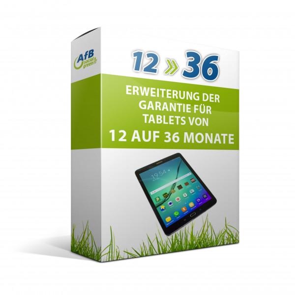 Erweiterung der Garantie für Tablets von 12 auf 36 Monate
