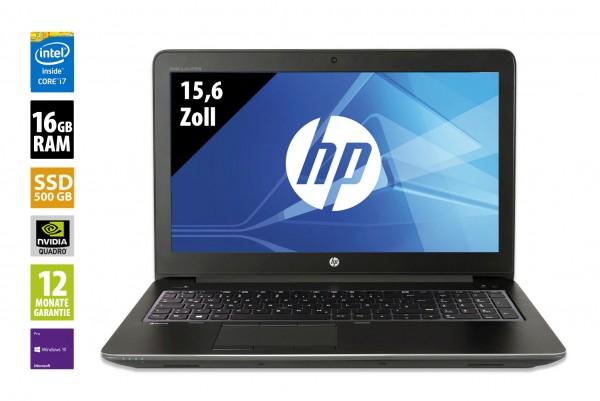 HP ZBook 15 G3 - 15,6 Zoll - Core i7-6820HQ @ 2,7 GHz - 16GB RAM - 500GB SSD - Nvidia Quadro M2000M - FHD (1920x1080) - Webcam - Win10Pro