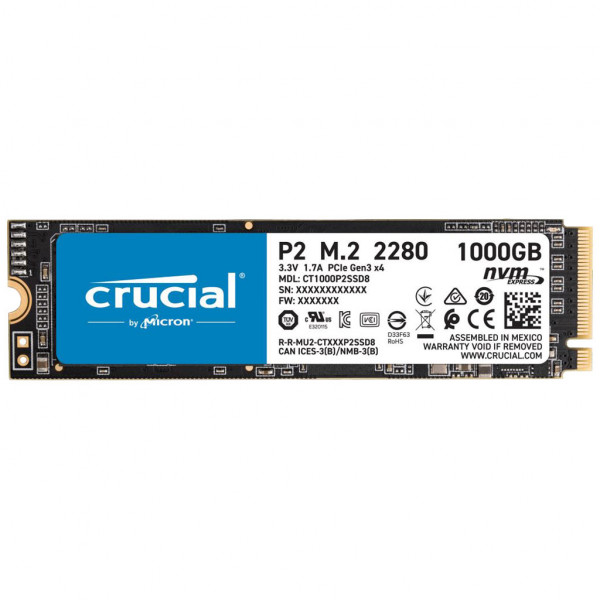 Crucial P2 - SSD - 1 TB - intern - M.2 2280