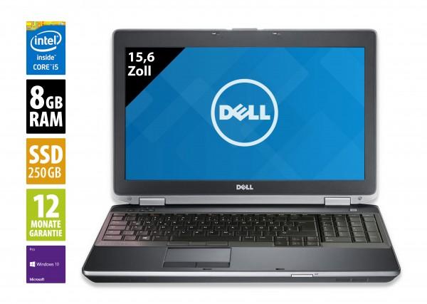Dell Latitude E6530 - 15,6 Zoll - Core i5-3320M @ 2,6 GHz - 8GB RAM - 250GB SSD - DVD-RW - WSXGA (1600x900) - Win10Pro