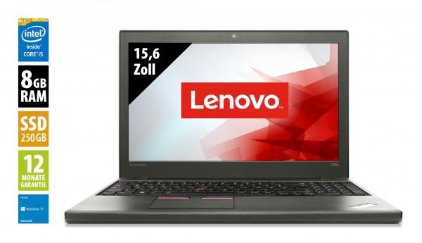 Lenovo ThinkPad T550 - 15,6 Zoll - Core i5-5300U @ 2,3 GHz - 8GB RAM - 250GB SSD - FHD (1920x1080) - Webcam - Win10Home