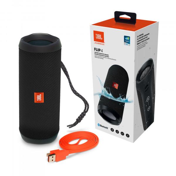 JBL Flip 4 - tragbarer Bluetooth Lautsprecher - schwarz