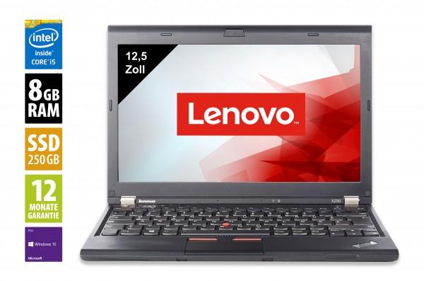 Lenovo Thinkpad X230 - 12,5 Zoll - Core i5-3320M @ 2,6 GHz - 8GB RAM - 250GB SSD - WXGA (1366x768) - Webcam - Win10Pro