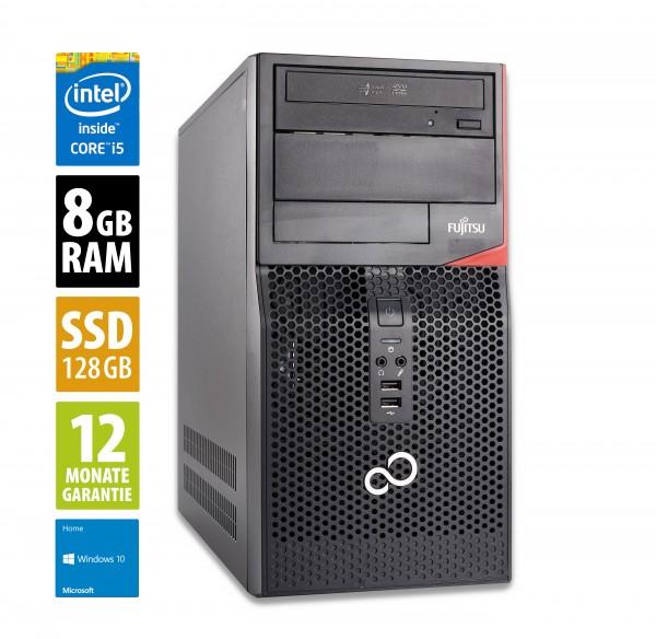 Fujitsu Esprimo P520 MT - Core i5-4460 @ 3,2 GHz - 8GB RAM - 128GB SSD - DVD-ROM - Win10Home