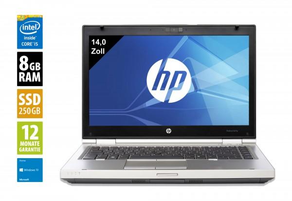 HP EliteBook 8470p - 14,0 Zoll - Core i5-3340M @ 2,7 GHz - 8GB RAM - 250GB SSD - DVD-RW - WSXGA (1600x900) - Webcam - Win10Home