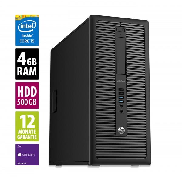 HP EliteDesk 800 G1 MT - Core i5-4570 @ 3,2 GHz - 4GB RAM - 500GB HDD - DVD-RW - Win10Pro