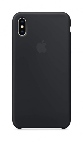 Apple Silikon Case (iPhone XS Max) - Schwarz