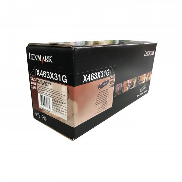 Lexmark Toner X463X31G Schwarz - Hohe Kapazität (15.000 Seiten)