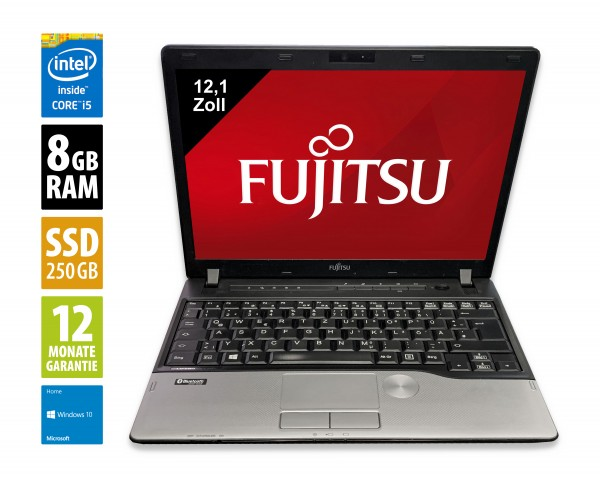 Fujitsu LifeBook P702 - 12,1 Zoll - Core i5-3320M @ 2,6 GHz - 8GB RAM - 500GB SSD - WXGA (1280x800) - Webcam - Win10Home