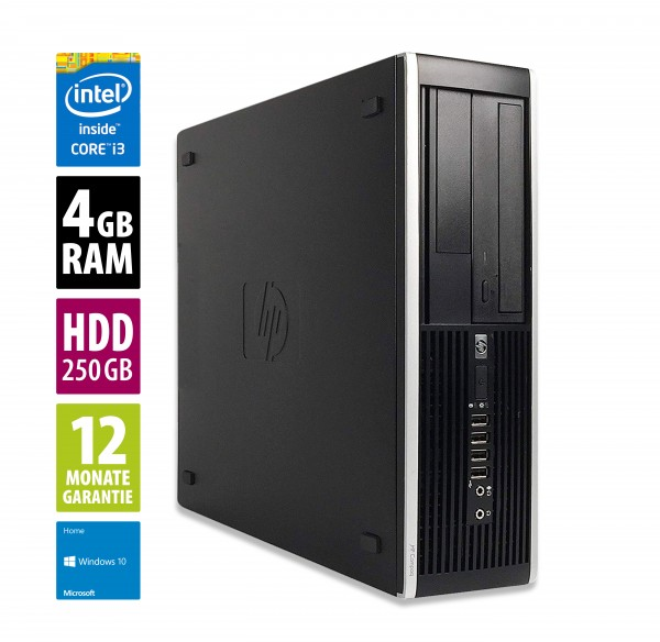 HP Elite 8200 SFF - Core i3-2100 @ 3,1 GHz - 4GB RAM - 250GB HDD - DVD-ROM - Win10Home